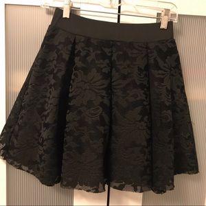 Windsor Black Lace Skater Skirt Size M